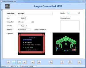 Base de Datos de Juegos MSX